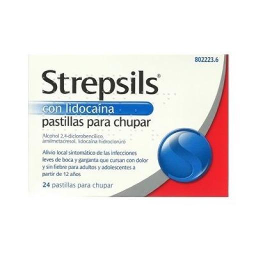 Strepsils con lidocaína 24 pastillas para chupar