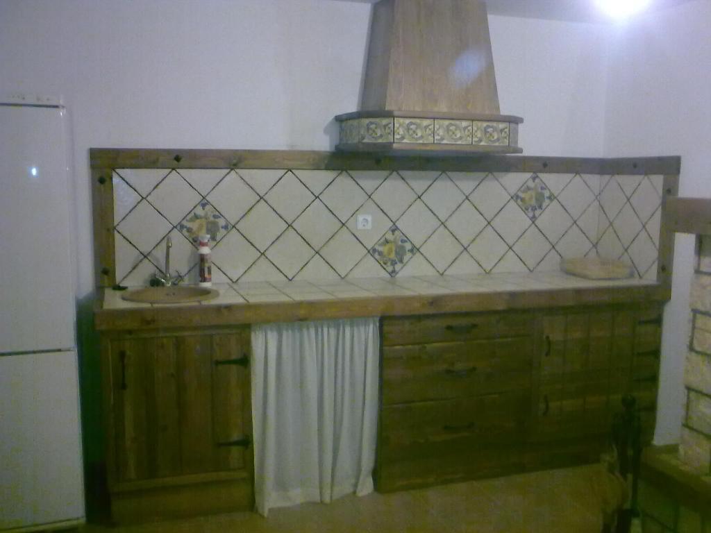 Cocina madera rustica