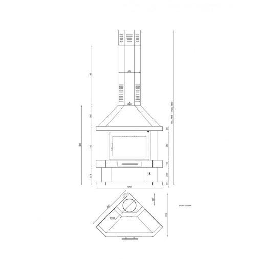 CHIMENEA METALICA RINCON MODELO ZAMORA [2]