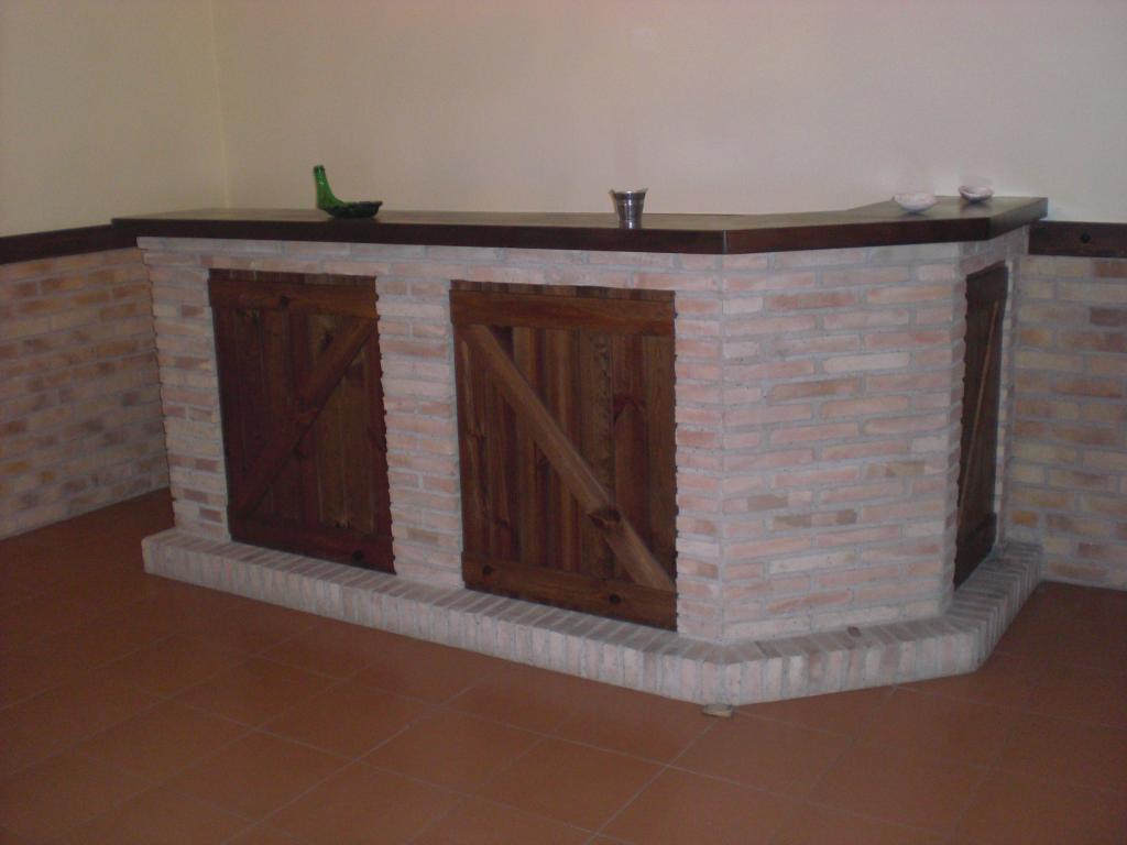 Barra de bar en ladrillo 1
