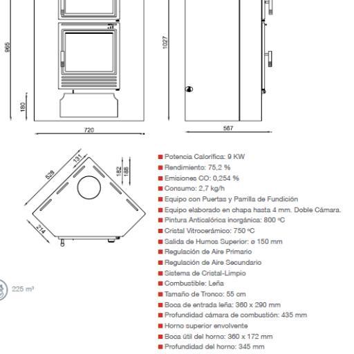 ESTUFA M-105H CON HORNO [2]