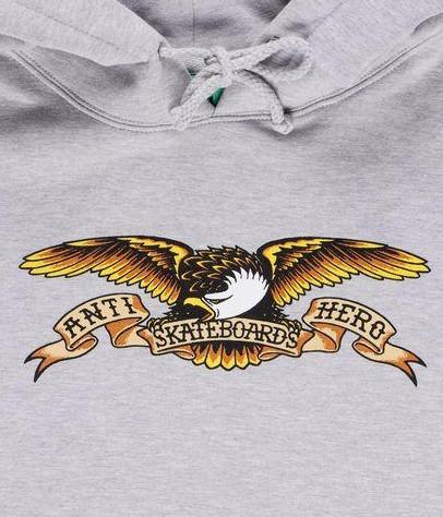SUDADERA ANTI HERO EAGLE - GREY HEATHER [1]