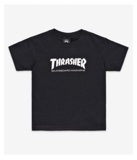 CAMISETA THRASHER YOUTH MAG - BLACK/WHITE