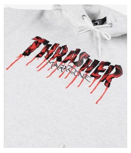 SUDADERA THRASHER BLOOD DRIP HOOD - ASH GREY [2]