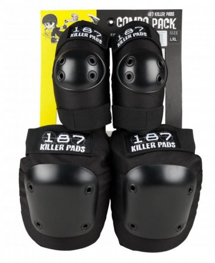PROTECCIONES 187 KILLER PADS COMBO PACK- BLACK