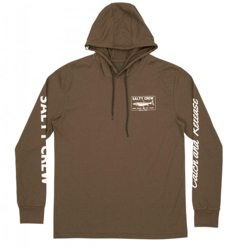SUDADERA SALTY CREW STEELHEAD - MILITARY