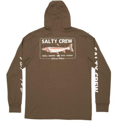 SUDADERA SALTY CREW STEELHEAD - MILITARY [1]