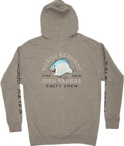 SUDADERA SALTY CREW CHOMPIN FLEECE - GUNMETAL [1]