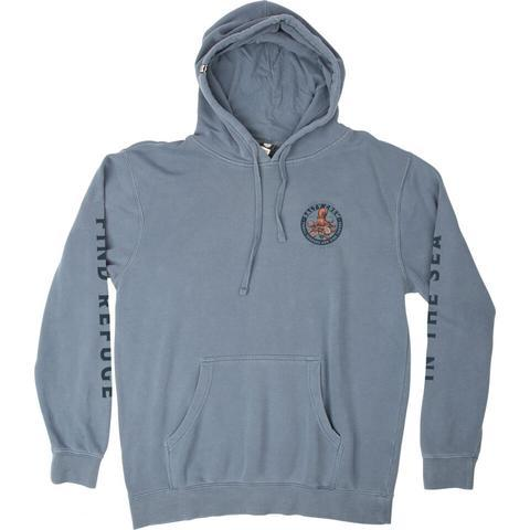 SUDADERA SALTY CREW DEEP REACH OVERDYED FLEECE - BLUE