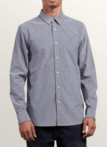 CAMISA VOLCOM OXFORD STRETCH - BLACK