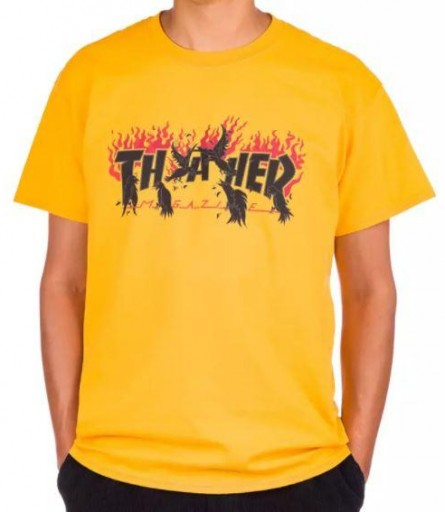 CAMISETA THRASHER CROWNS - GOLD