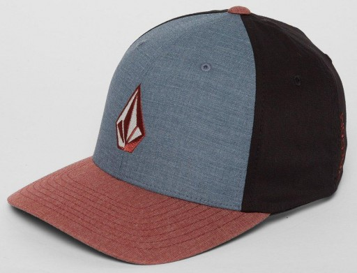 GORRA VOLCOM FULL STONE HTHR XFIT - SEQUOIA BROWN