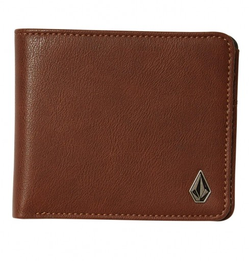 CARTERA VOLCOM SLIM STONE - BROWN