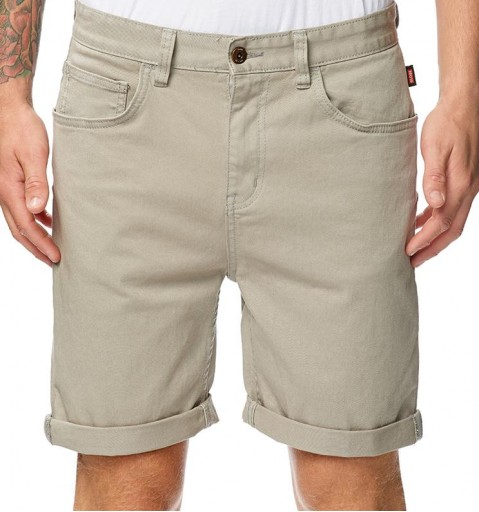BERMUDA GLOBE GOODSTOCK DENIM WALKSHORT - STONE