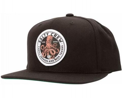 GORRA SALTY CREW DEEP REACH 6 PANEL - BLACK