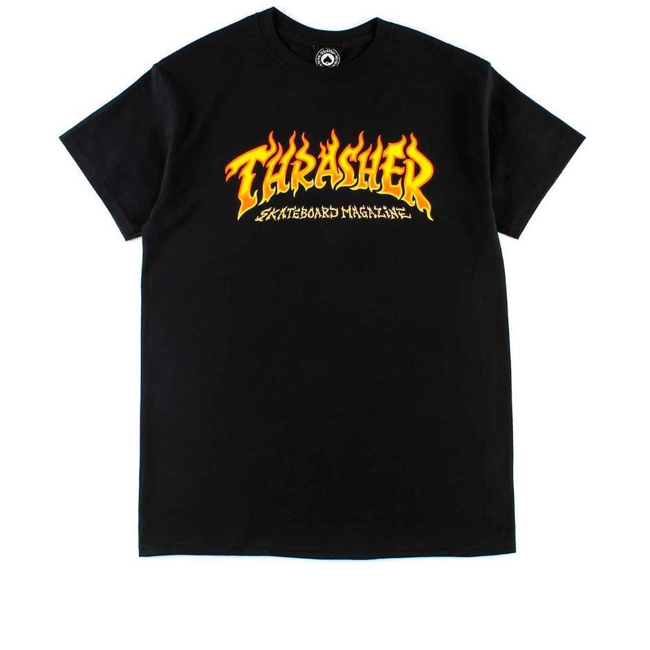 CAMISETA THRASHER FIRE - BLACK