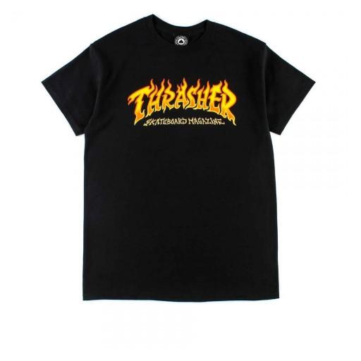 CAMISETA THRASHER FIRE - BLACK [0]