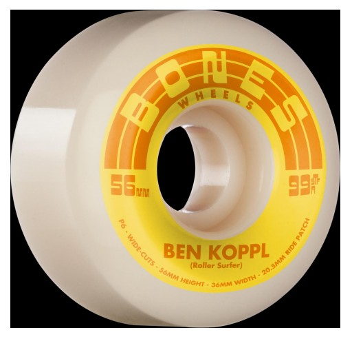 RUEDAS BONES KOPPL ROLLERSURFER 56MM V6 WIDE-CUT STREET - BEN KOPPL