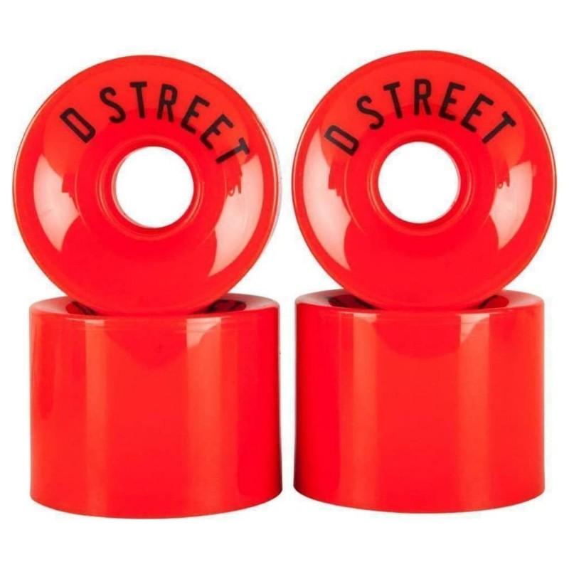 RUEDAS D-STREET 59 CENT 78A (4 PACK) - ROJO
