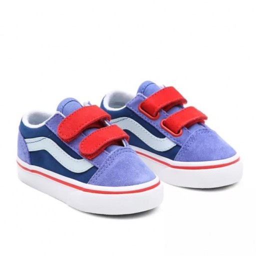 ZAPATILLAS VANS OLD SKOOL V - COLOR BLOCK BLUE/HIGH RISK RED