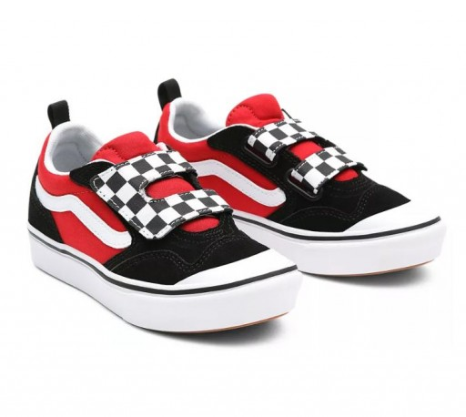 ZAPATILLAS VANS COMFYCUSH NEW SKOOL - CHECKERBOARD BLACK/RED