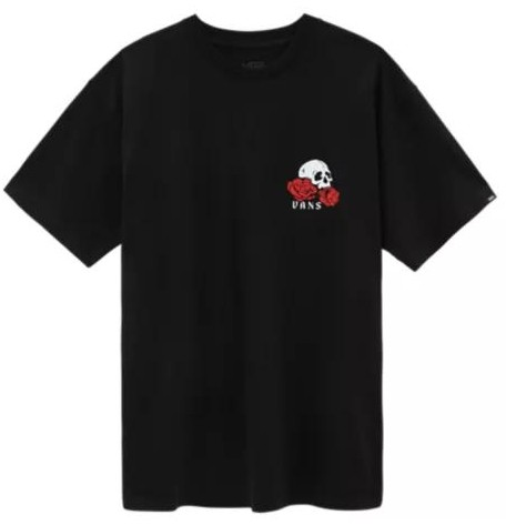 CAMISETA VANS ROSE BED SS - BLACK