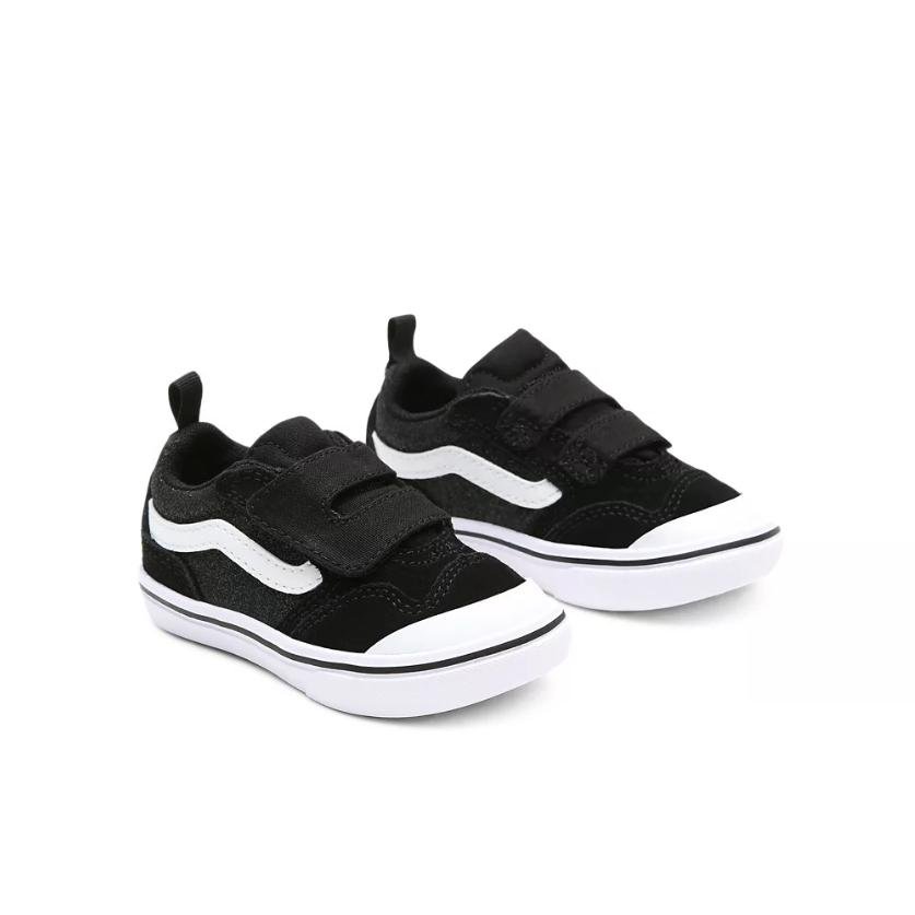 ZAPATILLAS VANS COMFYCUSH NEW SKOOL - GLITTER BLACK / TRUE WHITE