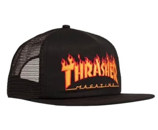 GORRA THRASHER FLAME MESH - BLACK