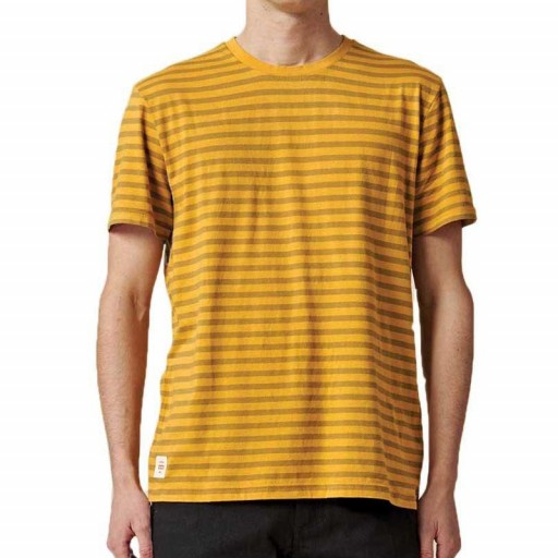 CAMISETA GLOBE HORIZON STRIPED TEE - HONEY
