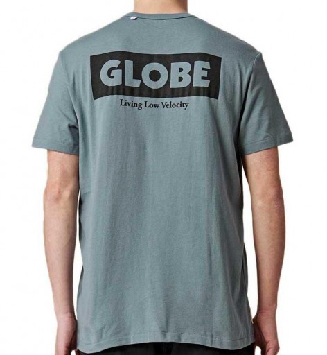 CAMISETA GLOBE LIVING LOW VELOCITY TEE - STEEL BLUE