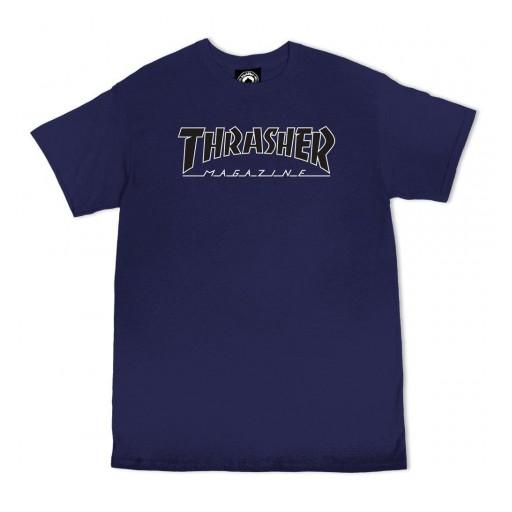CAMISETA THRASHER OUTLINED - NAVY/BLACK