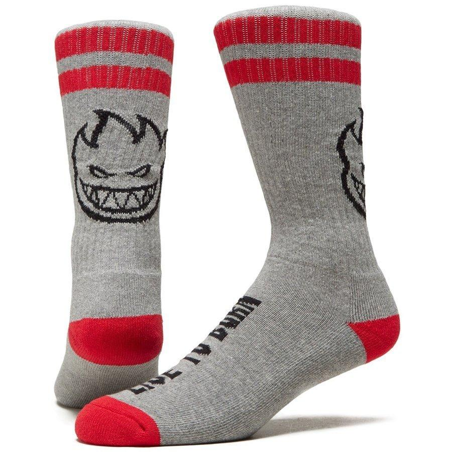 CALCETINES SPITFIRE HEADS UP - GREY/RED/BLACK