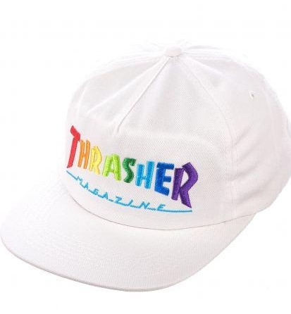 GORRA THRASHER RAINBOW - WHITE