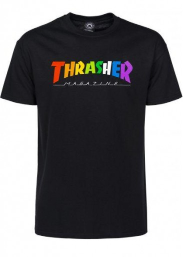 CAMISETA THRASHER RAINBOW - BLACK