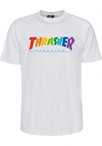 CAMISETA THRASHER RAINBOW - WHITE
