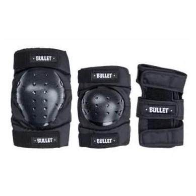 PROTECCIONES BULLET COMBO DELUXE PADSET JUNIOR - BLACK [1]