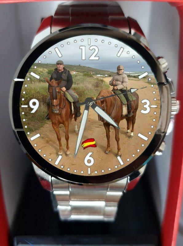 Reloj Personalizado de Acero y eslabones