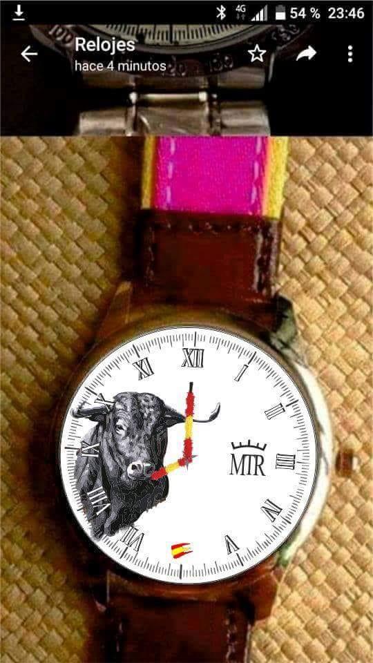 Reloj Tauromaquia personalizado