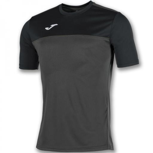 CAMISETA WINNER ANTRACITA-NEGRO M/C 100946.151