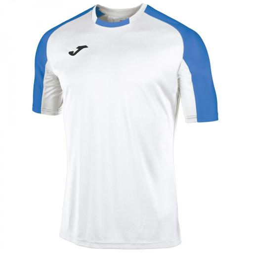 CAMISETA ESSENTIAL BLANCO-ROYAL M/C 101105.207