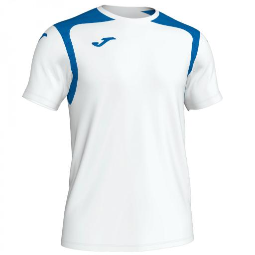 CAMISETA CHAMPION V BLANCO-ROYAL M/C 101264.207