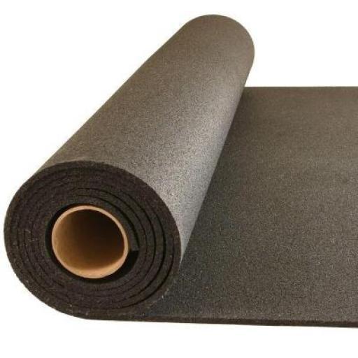 Rollo de Caucho 4 mm Negro Liso