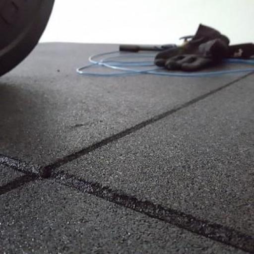 Losas de Caucho PowerFloor Machihembrada 40mm