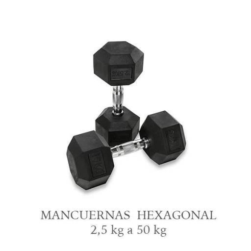 Mancuernas Hexagonal de caucho. [0]