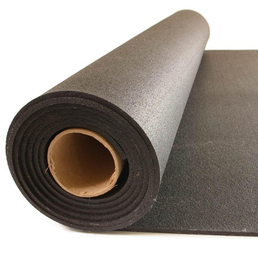 Rollo de caucho 6 mm Negro Liso