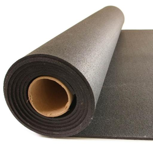 Rollo de caucho 12 mm Negro Liso