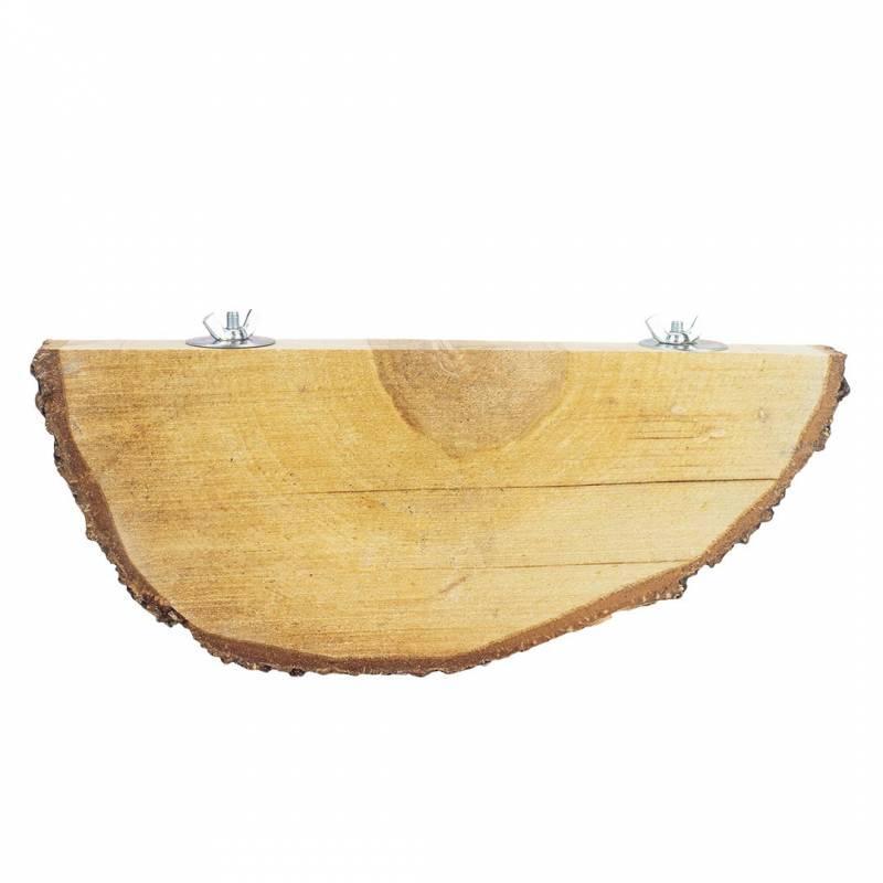 Base plana de madera natural