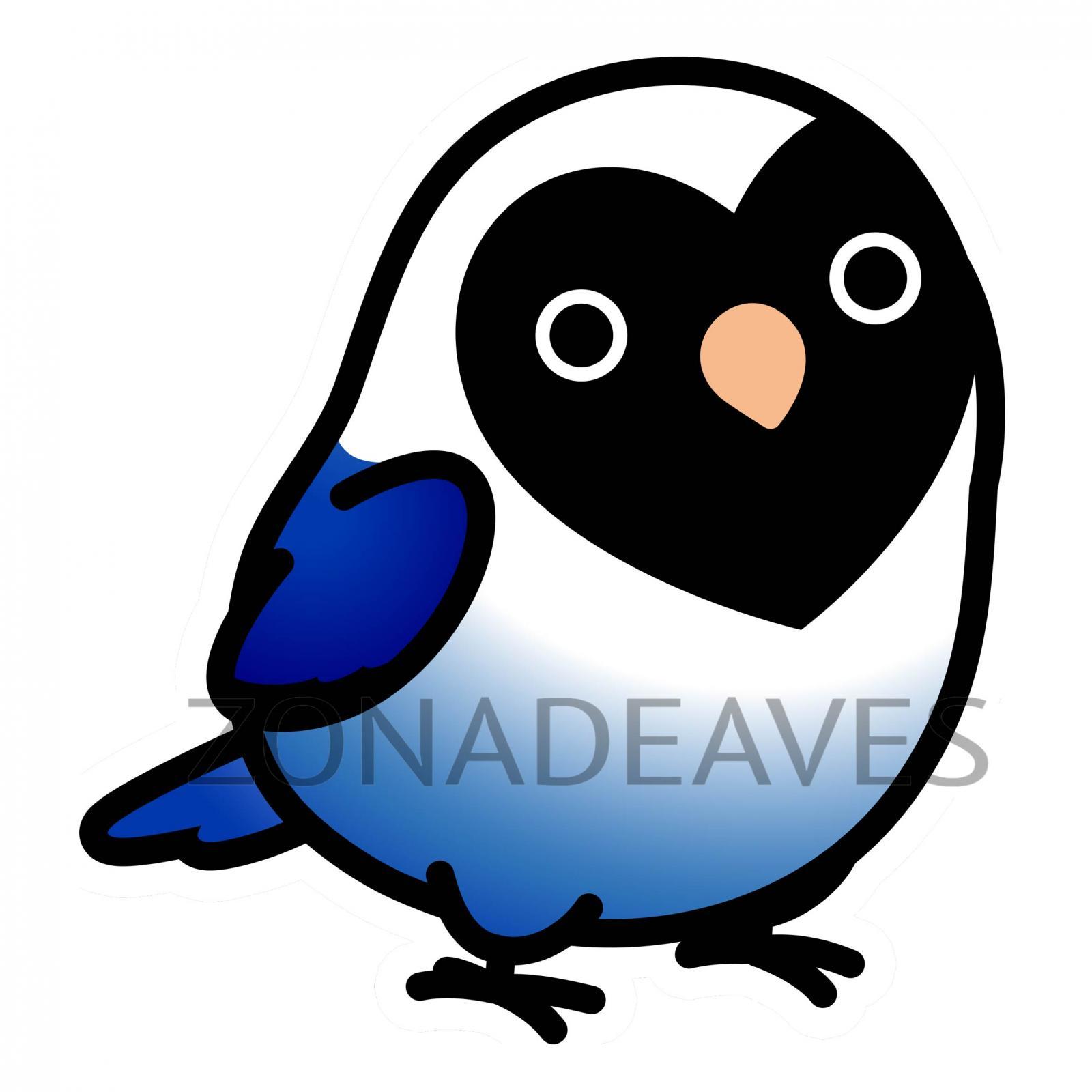 Pegatina Agaporni Personata azul
