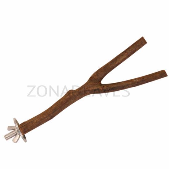 Percha madera natural