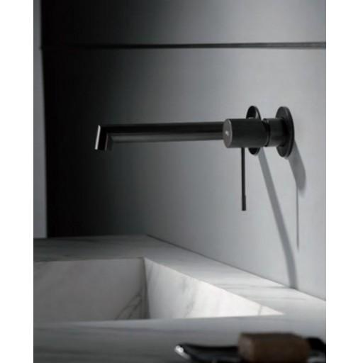 GRIFO EMPOTRADO MONOMANDO LINE BLACK GUN METAL de IMEX